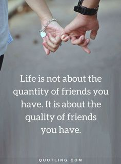friendship quotes Life is not about the quantity of friends you have. It is about the quality of friends you have.