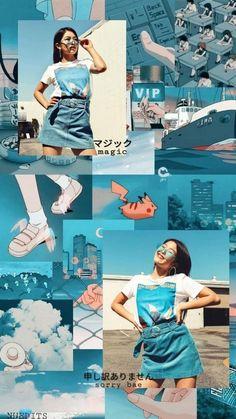 Hina Now united Wallpaper Nu Wallpaper, Tumblr Wallpaper, Tumbrl Girls, Collage Background, Love Now, Blue Aesthetic, Aesthetic Wallpapers, Cute Wallpapers, Photo Book