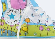 Clothing, Shoes & Accessories New Lorax Converse Chuck Taylor Hi Top Sneakers Men 10 Women 12 Dr Seuss Ample Supply And Prompt Delivery