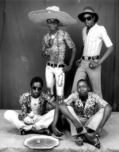 Africa | Young men in Mali by Malick Sidibé || Sidibé is a photographer known for his black-and-white images chronicling the exuberant lives and culture, often of youth, in his native Bamako, Mali in the 1950s, '60s, and '70s.