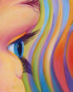 """Through the Eyes of a Child"" 16x20 acrylic original, $500.  Details, http://sandi-whetzel.artistwebsites.com/featured/through-the-eyes-of-a-child-sandi-whetzel.html  Reproductions available."