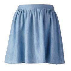 LC Lauren Conrad Chambray Circle Skirt