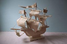 Sandglass Wooden Ship - Joanna Straughn