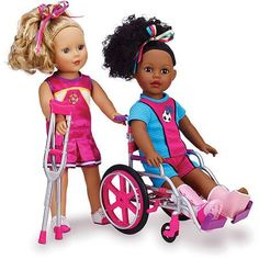"""My Life As Wheelchair Set for 18"""" Doll...... about time, huh? 19.97 at walmart"""