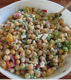 Chickpea Feta Summer Salad.