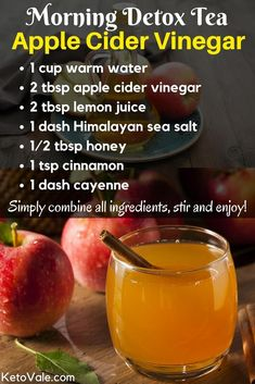 Top 8 apple cider vinegar health benefits and uses - # . - Top 8 Apple Cider Vinegar Health Benefits and Use # Cider Vinegar # detox diet # d - Healthy Detox, Healthy Drinks, Easy Detox, Healthy Water, Healthy Food, Nutrition Drinks, Vegan Detox, Holistic Nutrition, Healthy Lunches