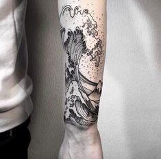 Hokusai Wave Tattoo by OOZY