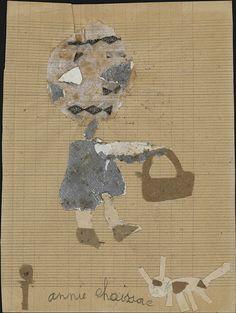 UNTITLED/Annie Chaissac (b. December 1942,Vix, France), n.d., France, cut-and-pasted papers on paper, 8 5/8 x 6 1/2 in., Collection de l'Art Brut, Lausanne, Switzerland, ni-695. Photo credits: © Collection de l'Art Brut, Lausanne. Photo by Olivier Laffely, Atelier de numérisation—Ville de Lausanne