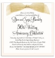 50th Anniversary Invitations On Pinterest