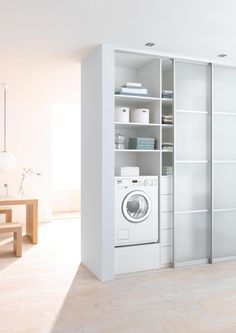 "Outstanding ""laundry room stackable washer and dryer"" information is offered on our site. Have a look and you wont be sorry you did. Laundry Cupboard, Laundry Nook, Laundry Closet, Laundry Room Organization, Small Laundry, Laundry Room Design, Compact Laundry, Closet Storage, Locker Storage"