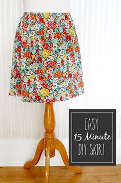 Step by Step Easy DIY Skirt Tutorial by DIY Ready at http://diyready.com/diy-clothes-pants-skirts-for-women/