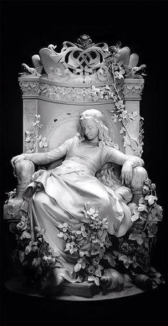 greek statue sleeping beauty Deng Lei on ArtStation at Foto Fantasy, Fantasy Kunst, Fantasy Art, Kunst Inspo, Art Inspo, Images Esthétiques, Bel Art, Renaissance Kunst, Cemetery Art