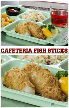 """Growing up, every Friday, you knew you could expect fish on the cafeteria menu.We recreated those yummy """"Cafeteria Fish Sticks"""" so you can have them for lunch or dinner whenever you want!"""