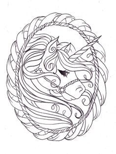 Complicolor Unicorn Sketch By Nevermore Inkdeviantart On DeviantART Printable Coloring PagesKids