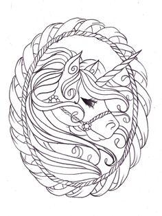 Unicorn sketch by Nevermore-Ink.deviantart.com on @deviantART