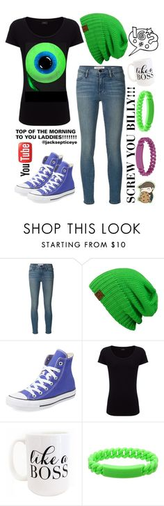 """jacksepticeye aka my fav. Youtuber"" by sparrow-song ❤ liked on Polyvore featuring Frame Denim, Converse, Joseph, Moon and Lola and Marc by Marc Jacobs"