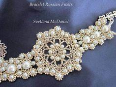 Beaded Bracelet Russian Frosts. Браслет из бисера Русские Морозы