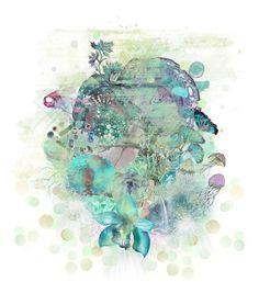 """Underwater mashup"" by nightmaremuncher ❤ liked on Polyvore featuring art"