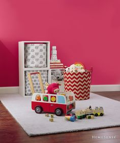 Kids' rooms are extra cozy with their favourite toys on display!