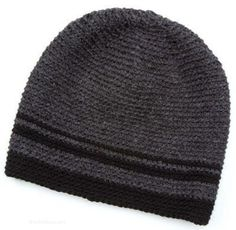 Men s beanie free crochet pattern ~ sizes Small Medium and Large ... 126c15d2c11