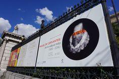 """Cartel de la expo """"Miguel de Cervantes de la vida al mito""""en la BNE #Madrid #Cartel #Affiche #Arterecord 2016 https://twitter.com/arterecord"""