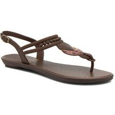 Ipanema Tribal Ii Sandal - Dark Brown (5985 ALL) ❤ liked on Polyvore featuring shoes, sandals, dark brown, strappy shoes, wooden sandals, strappy sandals, tribal sandals and embellished shoes