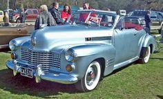 1941 Cadillac 62 Series 2-door convertible 5.6L V8 150hp engine