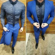 Custom Made Royal Blue Men Suits for Wedding 2019 Groom Tuxedos Slim Fit Bridegroom Wear Coat Trousers Terno Masculino Mens Fashion Suits, Mens Suits, Men's Fashion, Fashion Blogs, Fashion Clothes, Fashion Photo, Fashion Trends, Terno Slim Fit, Blue Suit Men