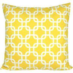 Kissenhülle GOTCHA gelb weiß geometrisch Kettenmuster 40 x 40 cm