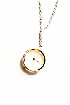 Watch time zone necklace