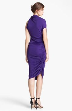 Lanvin Asymmetrical Draped Jersey Dress