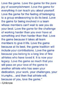 Soccer has taught me so much about life and myself.
