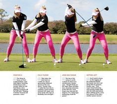 Golf Ladies Tips Swing Sequence: Brooke Henderson - Golf Digest - An athletic swing rooted in—of all places—a hockey rink. View Brooke's swing frame-by-frame Golf 6, Play Golf, Disc Golf, Sport Golf, Golf Putting Tips, Golf Instruction, Golf Exercises, Stretches, Workouts