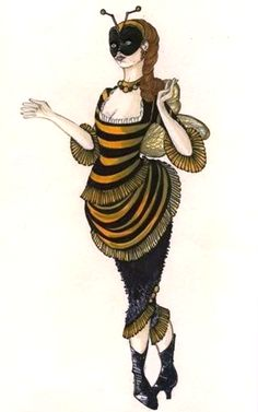 Bee Woman/Lady Bee, designed by Additional Production Costume Designer Sue Wilmington.