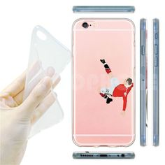 Soccer Sports Stars Soft Clear Phone Case For iPhone SE 55s 66sPlus Transparent Back Cover