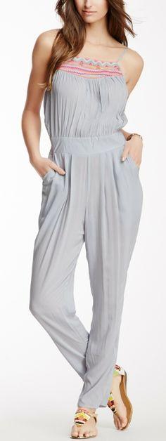 Multi Geometric Embroidery Jumpsuit- looks really comfy