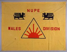 Banner of the Wales Division of the National Union of Public Employees