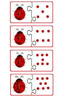 Ladybug math printables for kids