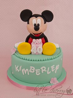 Mint Green Mickey Mouse Cake (Kimberley)
