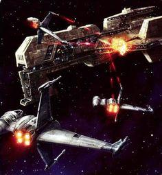 B Wing Starfighters at war