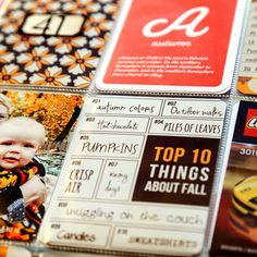 A Harvest of Memories - Fall Project Life Cards