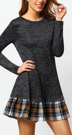 The post Grey drop waist contrast plaid dress. appeared first on Outfit Trends. Diy Clothing, Sewing Clothes, Recycled Clothing, Diy Fashion, Ideias Fashion, Diy Kleidung, Shirt Makeover, Shirt Refashion, Diy Dress