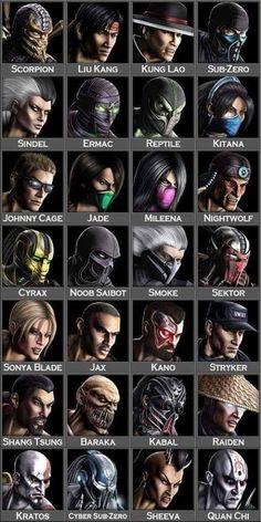 Mortal Kombat x Characters Mortal Kombat 9, Mortal Kombat X Scorpion, Mortal Kombat Memes, Mortal Kombat X Characters, Mortal Kombat Tattoo, Reptile Mortal Kombat, Liu Kang, Mortal Kombat Costumes, Mortal Kombat Cosplay