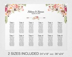 Printable Seating Chart Poster Template  Editable Powerpoint