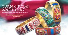 Mosaic look Mandala bracelets from india