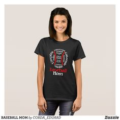 BASEBALL MOM T-Shirt - Fashionable Women's Shirts By Creative Talented Graphic Designers - #shirts #tshirts #fashion #apparel #clothes #clothing #design #designer #fashiondesigner #style #trends #bargain #sale #shopping - Comfy casual and loose fitting long-sleeve heavyweight shirt is stylish and warm addition to anyone's wardrobe - This design is made from 6.0 oz pre-shrunk 100% cotton it wears well on anyone - The garment is double-needle stitched at the bottom and sleeve hems for extra…