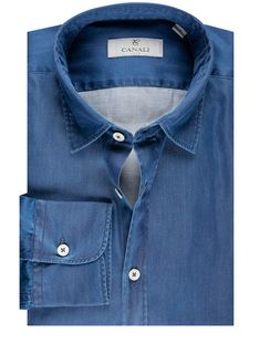 Canali Denim Shirt | Louis Copeland & Sons Canali Suits, Denim Button Up, Button Up Shirts, Cotton Style, Denim Shirt, Blue Denim, Sons, Winter, Casual