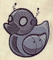 Embroidery Designs at Urban Threads - Robot Duckie