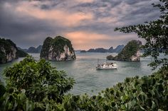 Boat In Halong Bay Vietnam by dleiva Landscape Photos, Landscape Photography, Travel Photography, Puerto Vallarta, Photos Of The Week, Kuala Lumpur, Wonderful Places, Peru, Places To See