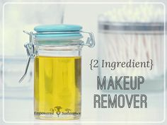 A soothing, all-natural and effective DIY Makeup Remover recipe made with only two ingredients. Perfect for sensitive skin.